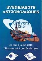 De mai à Juillet 2019 l'Univers est à portée de Lyon