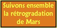 Observons et interprétons la rétrogradation de la planète Mars