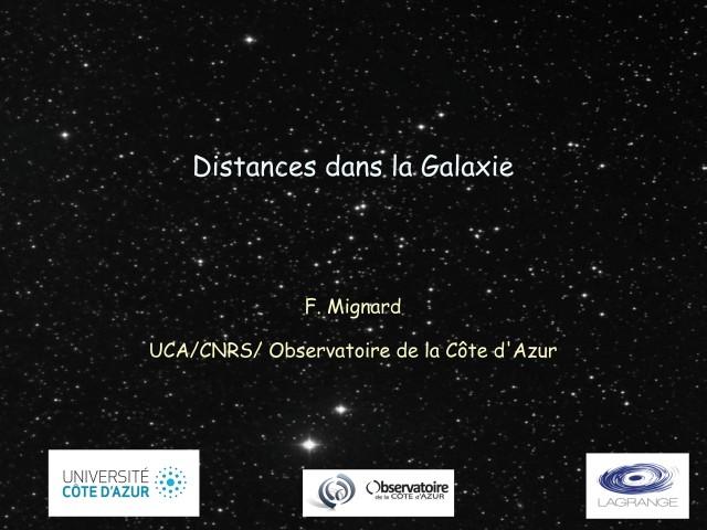 Distances dans la galaxie