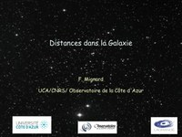 Distances dans la galaxie