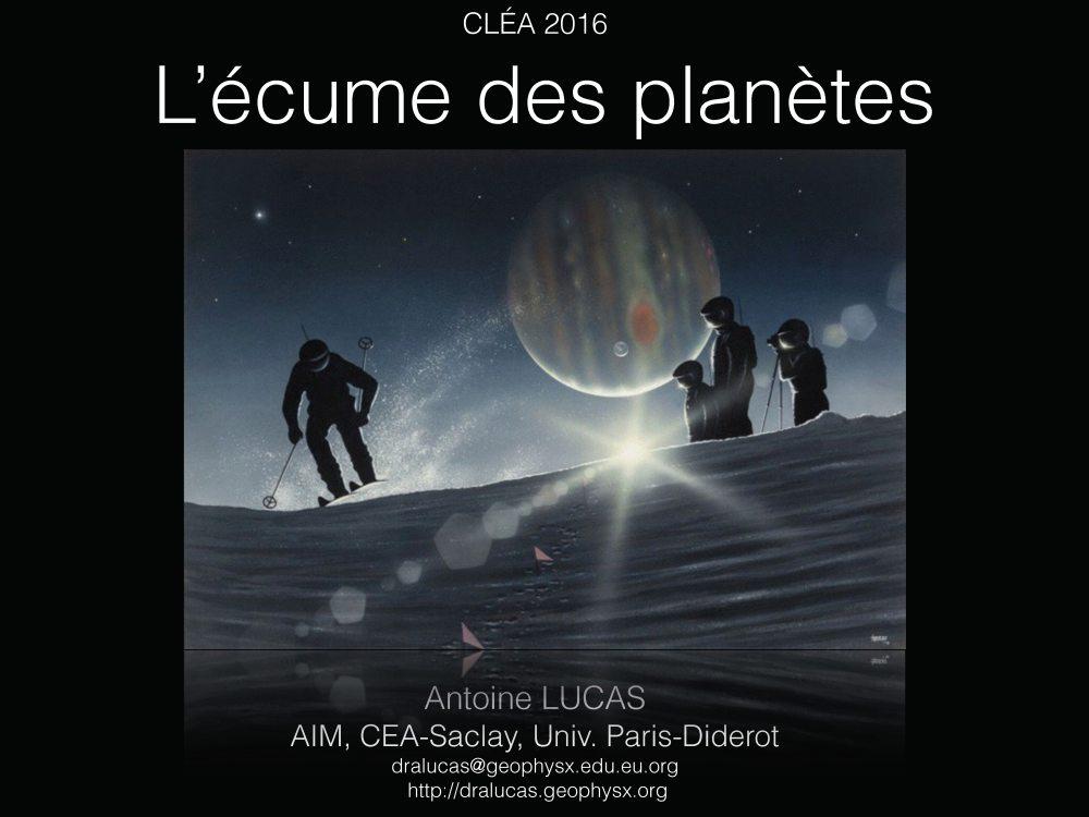 Dynamique des paysages dans le système solaire