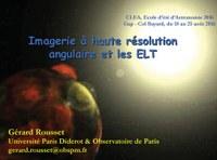 Imagerie à haute résolution angulaire et ELT