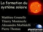 La formation du système solaire
