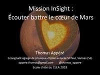Mission Insight : écouter battre le coeur de Mars
