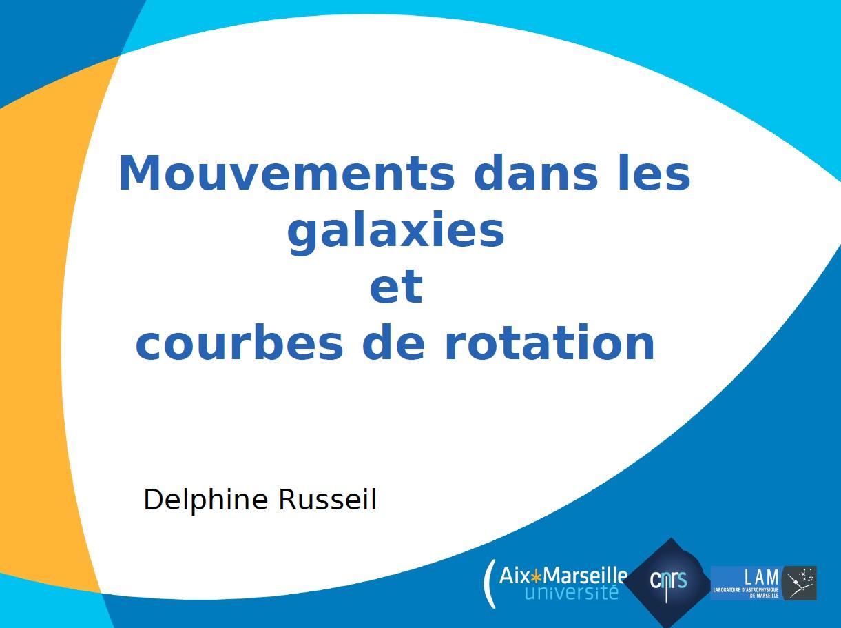 Mouvements dans les galaxies et courbes de rotation